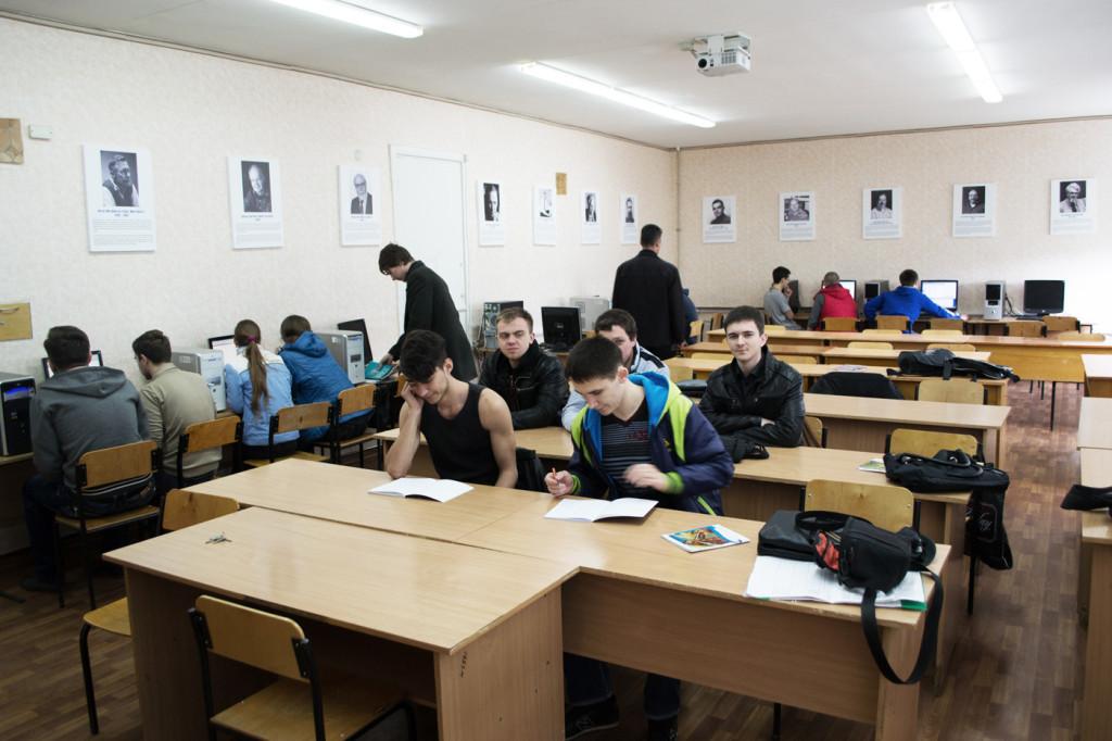 Занятие в аудитории 224 кафедры системной инженерии