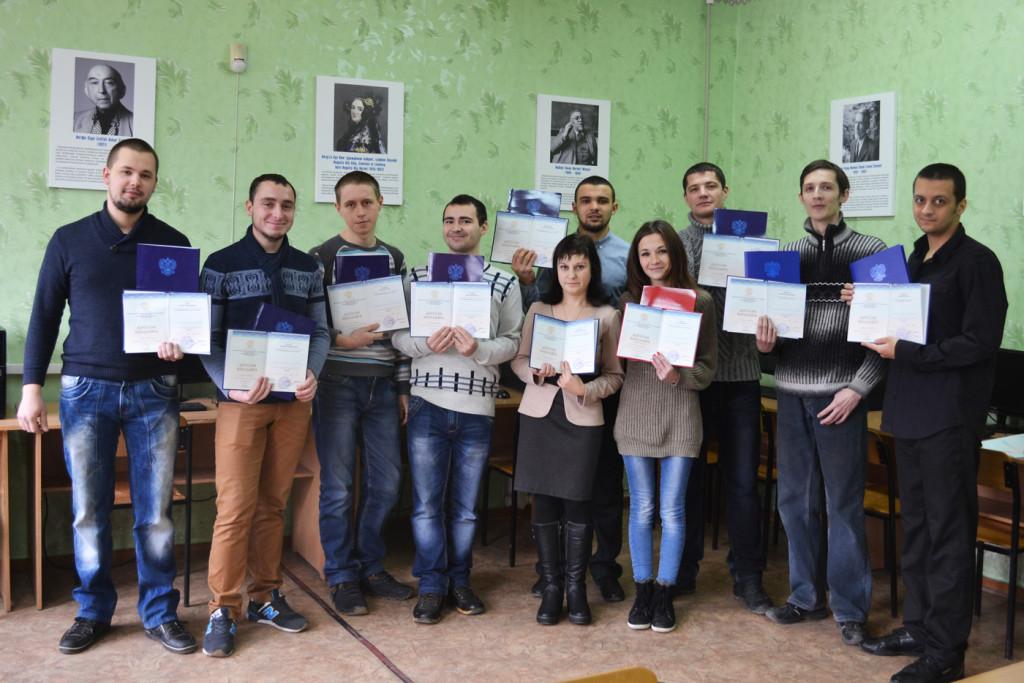 Выпускники кафедры «Информационные и управляющие системы» 2015 г.